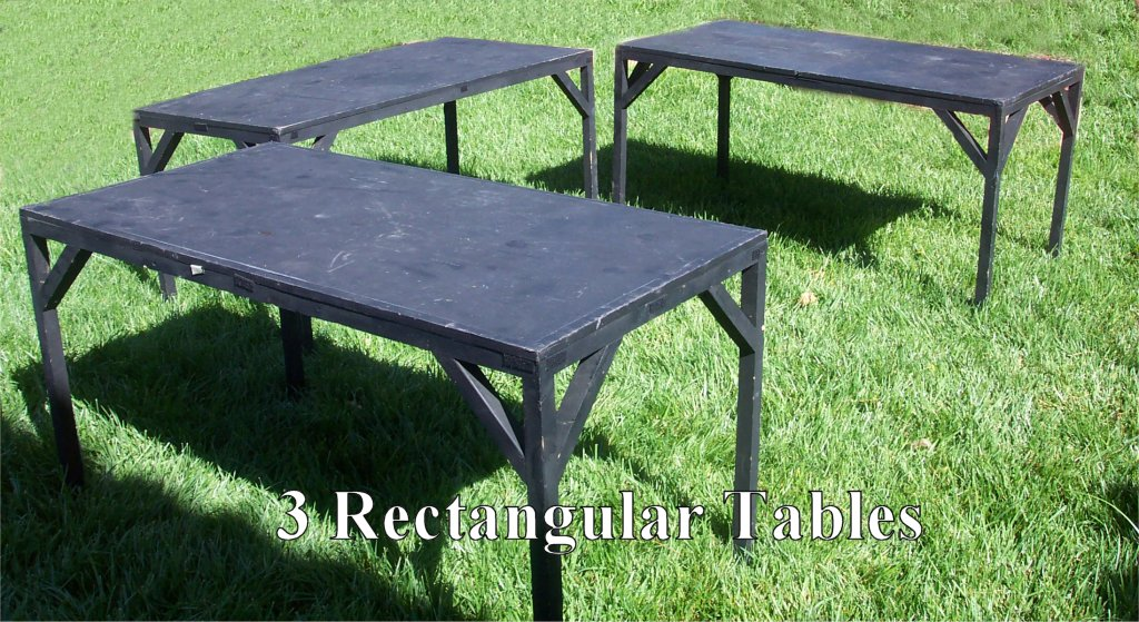 3 Rectangular Tables - Lesmiserablescostumerentals.com