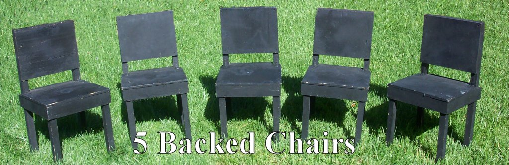 5 Backed Chairs - Lesmiserablescostumerentals.com